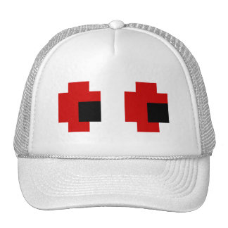 8 Bit Spooky Red Eyes Mesh Hats