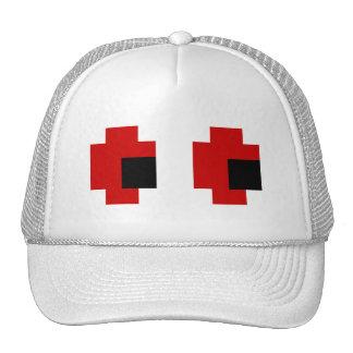 8 Bit Spooky Red Eyes Mesh Hats