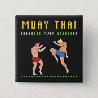 8-Bit Thai Boxing 2 Inch Square Button