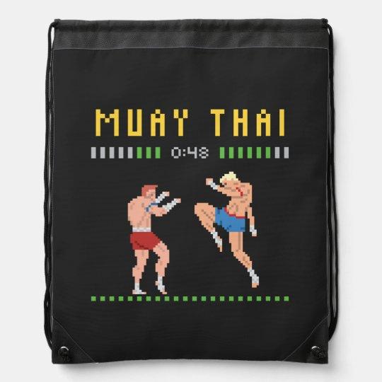 8-Bit Thai Boxing Drawstring Bag