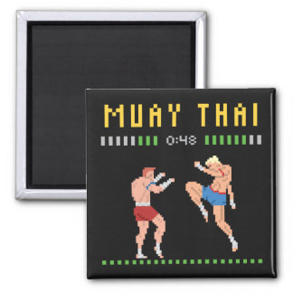 8-Bit Thai Boxing Magnet