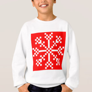 8 bit Video Game Snowflake Sweatshirt