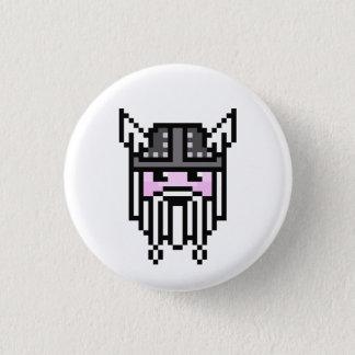 8 Bit Viking 1 Inch Round Button