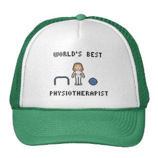 8 Bit World's Best Physiotherapist Hat