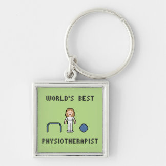 8 Bit World's Best Physiotherapist Keychain