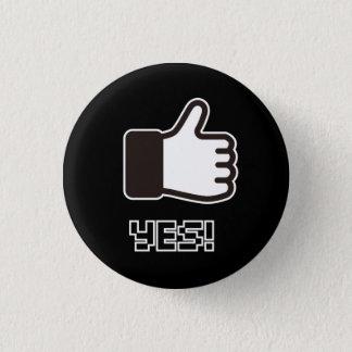 8 Bit YES! 1 Inch Round Button