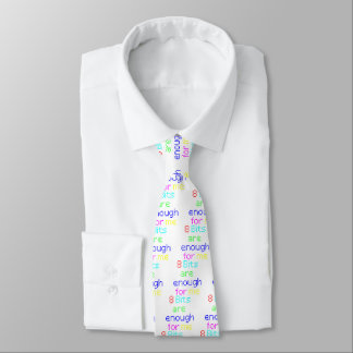 8 bits are enough for me: 1980s Computing Irony Tie