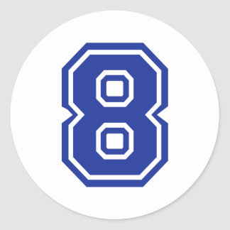 8 - eight classic round sticker