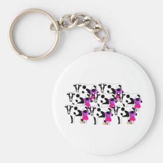 8 Maids Milking Keychain