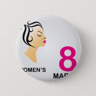 8 march International women's day 2 Inch Round Button
