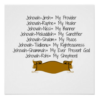 8 Names of God Perfect Poster