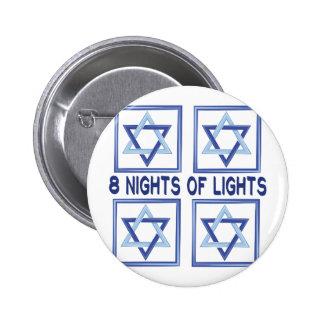 8 Nights Lights 2 Inch Round Button