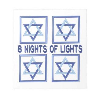 8 Nights Lights Notepads