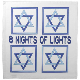 8 Nights Lights Printed Napkins