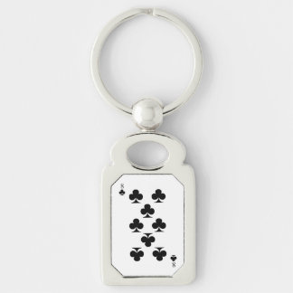 8 of Clubs Keychain