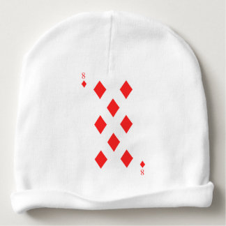 8 of Diamonds Baby Beanie