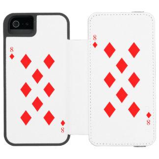 8 of Diamonds Incipio Watson™ iPhone 5 Wallet Case