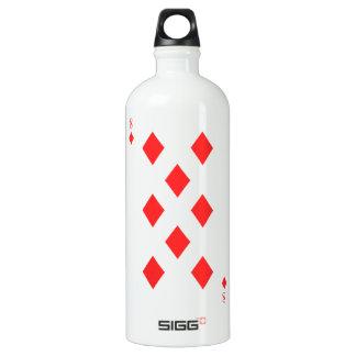 8 of Diamonds Water Bottle