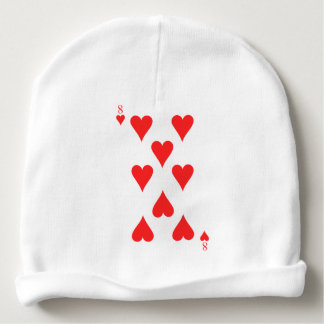 8 of Hearts Baby Beanie