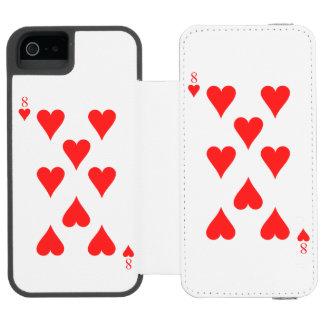 8 of Hearts Incipio Watson™ iPhone 5 Wallet Case