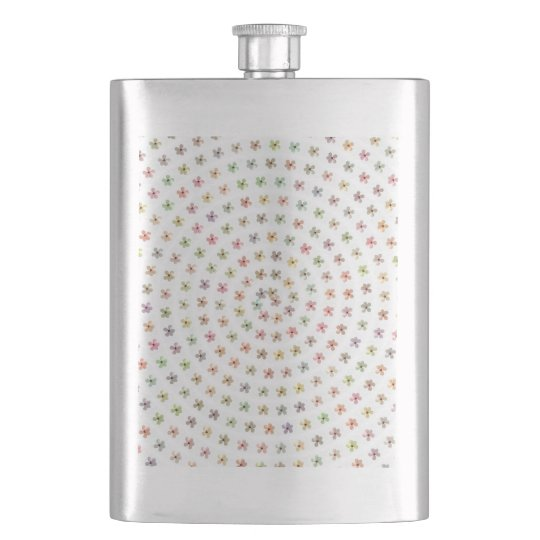 8 oz. Stainless Steel Flask, Floral Swirl Pattern Hip Flask