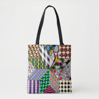 8-Point Quilting Block Tote Bag