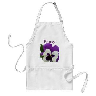 8 Purple White Pansy Standard Apron