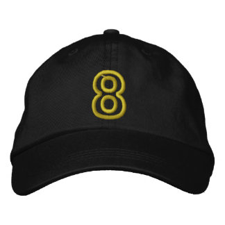 """""""8"""" Small Athletic Number Embroidered Hat"""
