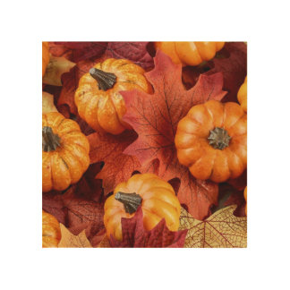 "8""x8"" Wood Wall Art-Pumpkins Wood Canvas"