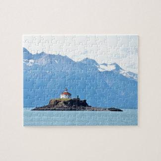 "8"" x 10"" Puzzle 110 pieces of Alaska lighthouse"