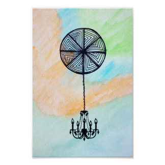 """8"""" x 10"""", Tangled Chandelier Poster"""