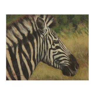 "8"" x 10"" Zebra Wood Wall Art Panel"