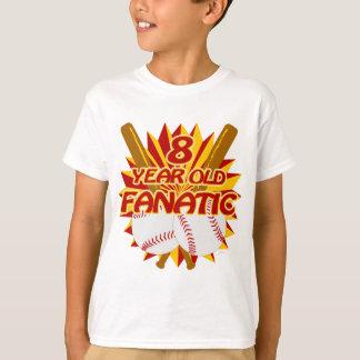 8 Year Old Baseball Fanatic T-Shirt