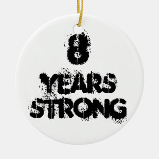 8 Years Strong Recovery Celebration Ornament