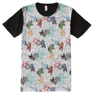 8Bit Avengers Attack All-Over-Print T-Shirt