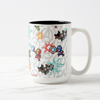 8Bit Avengers Attack Two-Tone Coffee Mug