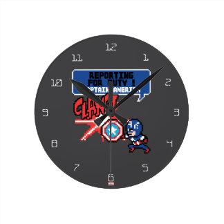 8Bit Captain America Attack - Reporting For Duty! Clock