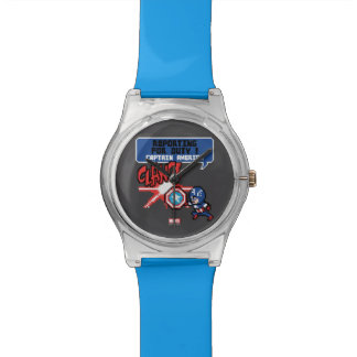 8Bit Captain America Attack - Reporting For Duty! Wristwatches