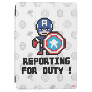 8Bit Captain America - Reporting For Duty! iPad Air Cover