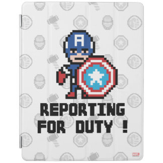 8Bit Captain America - Reporting For Duty! iPad Cover