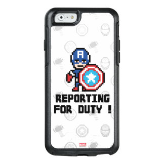 8Bit Captain America - Reporting For Duty! OtterBox iPhone 6/6s Case