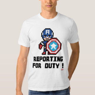 8Bit Captain America - Reporting For Duty! T-shirt