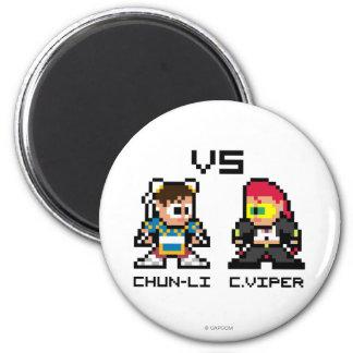 8bit Chun-Li VS C.Viper Magnet