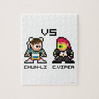 8bit Chun-Li VS C.Viper Puzzles