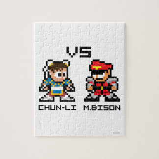 8bit Chun-Li VS M.Bison Puzzles