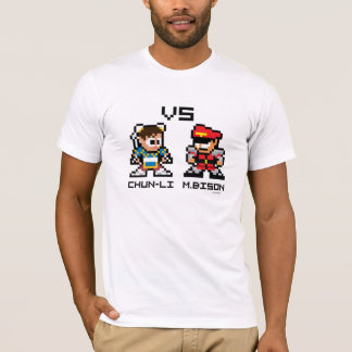 8bit ChunLi VS M.Bison T-Shirt