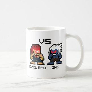 8bit Evil Ryu VS Oni Coffee Mug