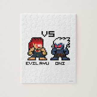8bit Evil Ryu VS Oni Jigsaw Puzzle