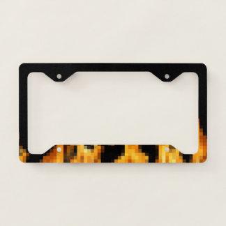8bit fire license plate frame