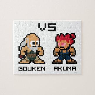 8bit Gouken VS Akuma Puzzles